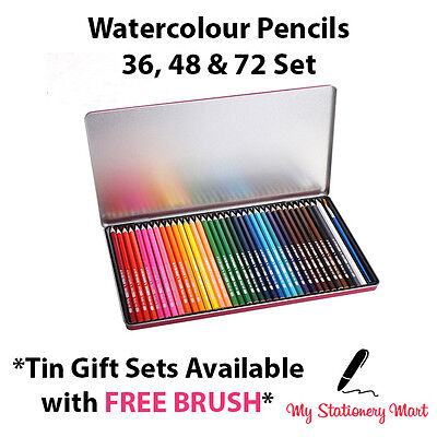 12 24 36 48 72 Water Colour Pencils Watercolour Pencils For Aquarelle Drawing