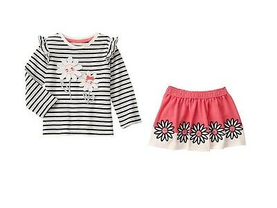 NWT Gymboree KITTY IN PINK SZ 3T or 4T Striped Daisy Tee & Skirt NEW