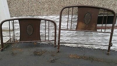 Antique Simmons Metal Bed Headboard and Footboard No Rails Full Size Bed
