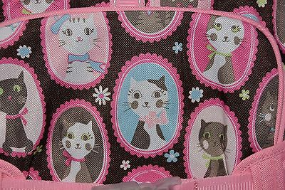 New Pottery Barn Cats Mackenzie Large Backpack Pink & Brown Cats! New