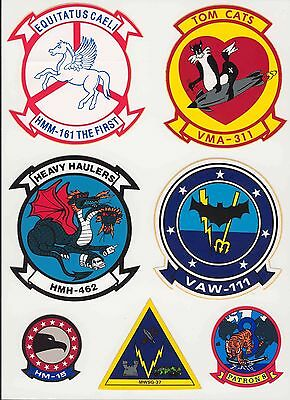 Set #8 Military Decals Top Quality Mylar From The 1970's-80's New
