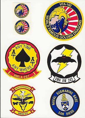 Set 9 Military Decals Top Quality Mylar From The 1970's-80's New