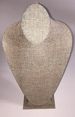 """New 14.5"""" Tall Pendant Jewelry Neck Display Bust Form Necklace Stand"""