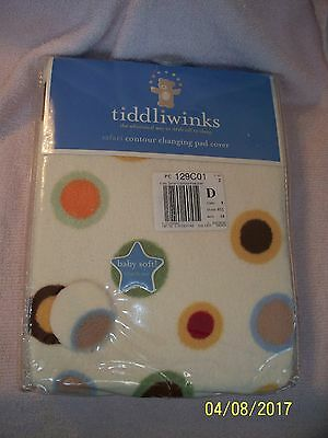 Tiddliwinks NEW - CHANGING PAD COVER SIZE Contour Safari colorful Dots on beige