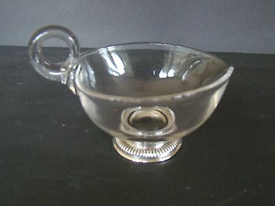 Vintage Glass and Frank M Whiting Sterling Base Sauce Boat - Excellent!
