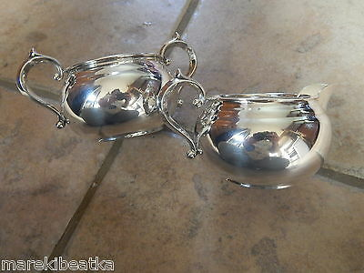 Elegant  Gorham Sterling Silver Sugar Bowl And Creamer