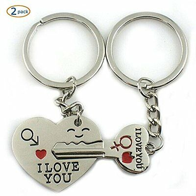 New Chain Key Ring to My Heart Cute Couple Keychain Love  RingWorld Pride Metal