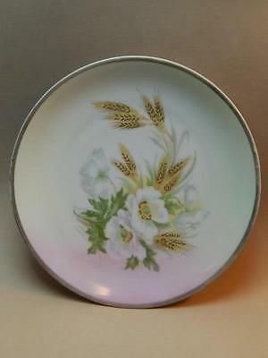 Three Crown China-John H. Roth & Co. Hand Painted Floral Gold Accent Plate