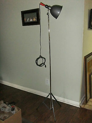 Vintage Smith-Victor Photo Light Tripod Floor Lamp Steampunk Retro Industrial
