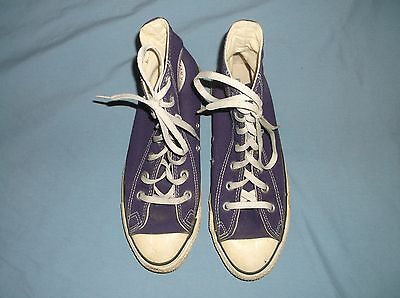 VTG 80's/early 90's Chuck Taylor CONVERSE High Top Purple sz. 6 USA Sneakers