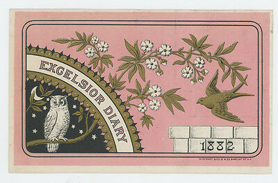 Excelsior Diary 1882 Trade Card