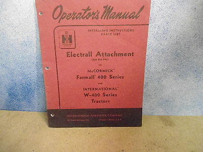 International   Harvester   ELECTRALL ATTACHMENT  0.M.  362 825 R91