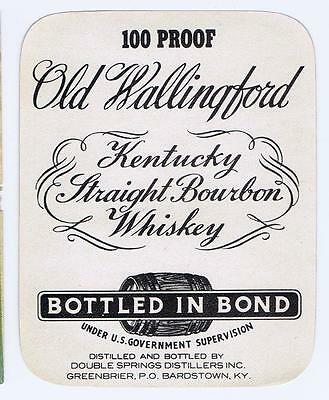 Old Wallingford, Kentucky Straight Bourbon whiskey, Bardstown, antique label #13