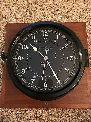 Chelsea WWII Navy Deck or Engine Room Clock