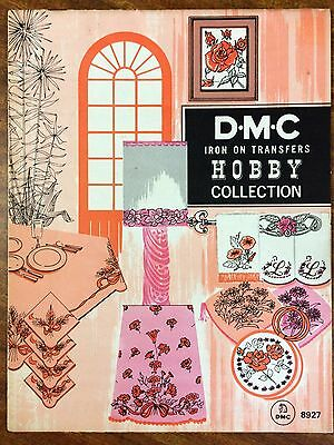 Vintage from 1968: D.M.C  Iron-on Transfer  HOBBY Collection Booklet #8927