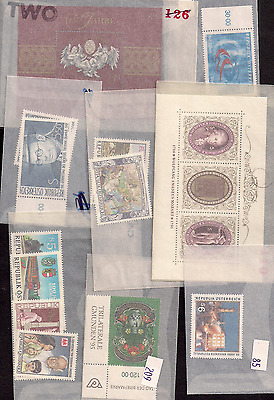 Austria 107 glassines 1990's MNH