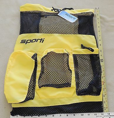 Sporti Equipment Mesh Swim Bag; YELLOW