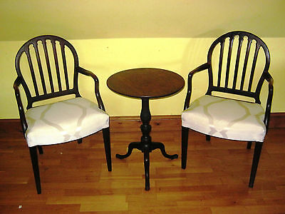 PAIR OF 18th CENTUARY GEORGE III MAHOGANY CARVER/ELBOW CHAIRS