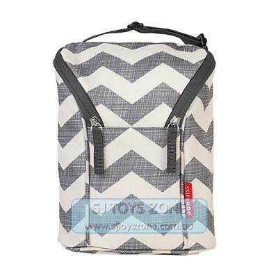 Skip Hop Grab and Go Double Insulated Warmer or Chiller Bottle Bag - Chevron