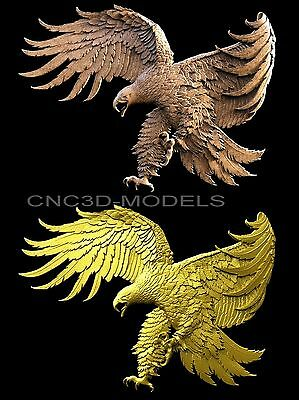 3D Model STL for CNC Router Engraver Carving Artcam Aspire USA Eagle Hunt 6009