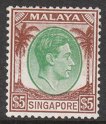 SINGAPORE 1948 #15 MINT GV1 STAMP P14 top value