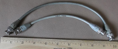 pair HP Agilent HP 22cm 10502A 50 Ohm BNC Male Plug to BNC Male RF Test Cable