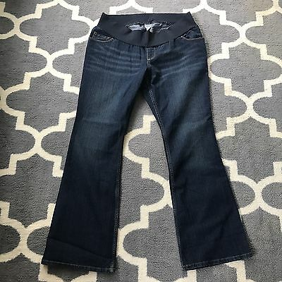 Motherhood Maternity XL Jeans bottoms pants under belly Med/Dark Wash Jeans EUC
