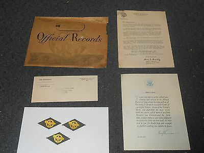 White House Letter By Harry Truman Thank You Letter WWII Military + Omar Bradley