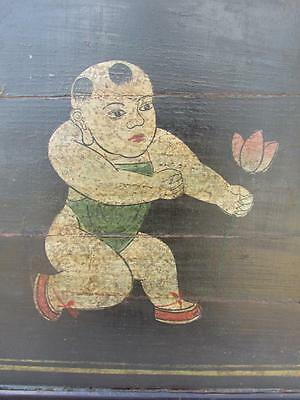 Qing Dynasty Baby Buddha holding Lotus antique table top/tray circa late 1800s