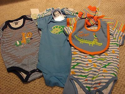 Lot of Baby Boy Onesies Bib and Socks 3-6 and 6-9 Months NWT