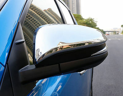 Fit For Toyota RAV4 2013-2017 Car Side Rear Mirror View Cover Trim ABS Chrome