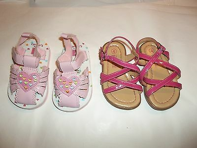 Toddler girl Size 4 Sandals The place and carter's lot of 2