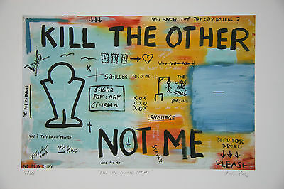 "ORIGINAL FRANCIS TUCKER  ""Kill the other"" E.A. orig. signiert 2012"