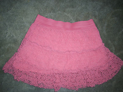 Justice Girls size 16 Pink Lace Ruffled Skort Skirt