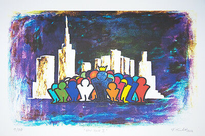 "ORIGINAL FRANCIS TUCKER  ""New York II""  08/50 orig. signiert 2013"