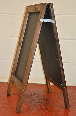 A Traditional Wooden Pavement Sign A-Board Chalkboard/Blackboard Painted Panel
