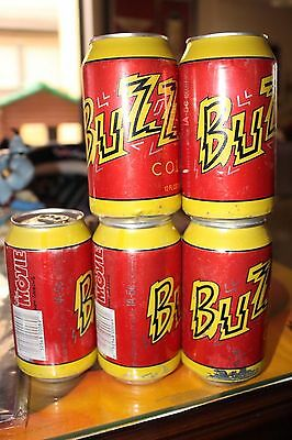 Lot Of 5 The Simpsons Buzz Cola Soda Can new collector's item