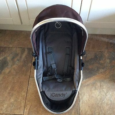 i candy peach 1 lower seat unit with hood and harness  brown colour