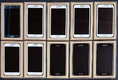 Lot of 10 Samsung Galaxy S5 SM-G900V Verizon Various Color Good Power & LCD B/C
