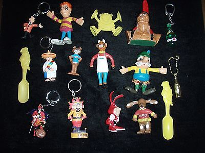 Vintage Advertising Character Lot, Elsie, Jack in the Box, Noid / Key-Chains,etc