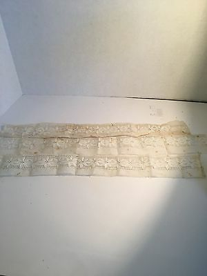 Old Vintage  Linen Lace Trim For Sewing