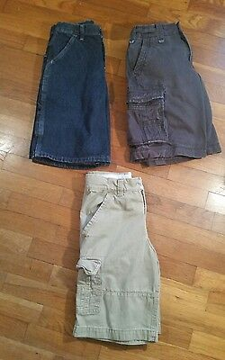 Lot Of 3 Boys Cargo/carpenter Shorts Size 10 Guc