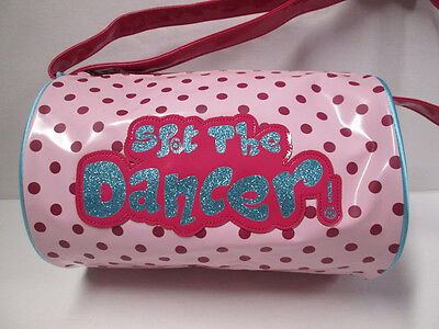 Dance Bag Girl's Duffle Tote Pink Capezio Polka Dots Hearts Child Ballet
