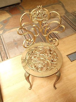 Antique Victorian Gold Wrought Iron Chair