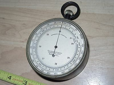 Old Taylor instrument Co. Rochester Altimeter Compensated temperature Barometer