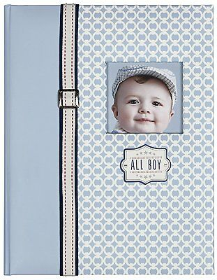New C.R. Gibson Baby Boy's First 5 Years Bound Memory Book, All Boy