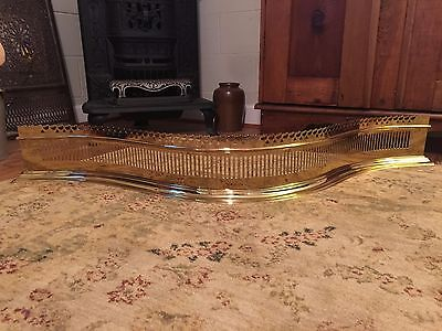 Colonial Williamsburg Virginia Metalcrafters Serpentine Brass Fireplace Fender