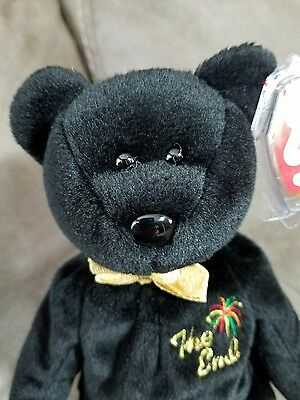 """Ty Beanie Babies """"The End"""" with Errors  *Incl. FREE matching Teenie Beanie Baby"""