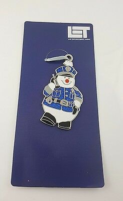 Frosty the Policeman Ornament Law Enforcement Today