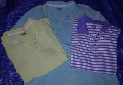 Lot of 3 Women's XL Polo Shirts Basic Editions